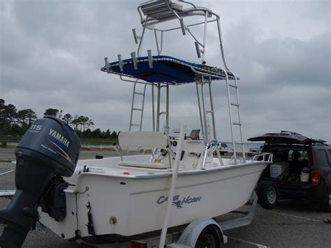 boat t top weight 2005 17ft cape horn c c 115 yamaha 4 stroke t top cobia