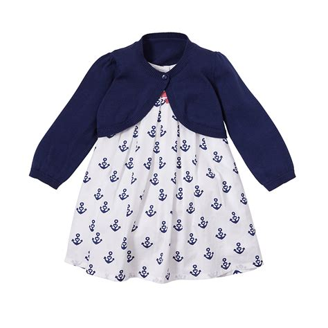 Mothercare Dress mothercare baby s anchor dress and cardigan sweater top sleeve ebay