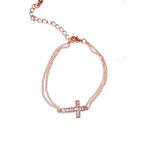 sideways cross charms for jewelry gold sideways cross dainty bracelet