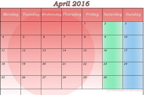 April 2016 Calendar Printable April 2016 Printable Calendar Printable Calendar Templates