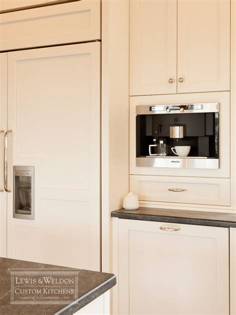 built in coffee machine traditional kitchen lewis