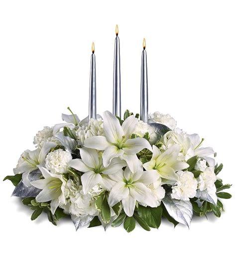 new year white flower arranjos de mesa para o ano novo design innova