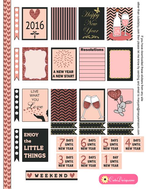 free printable planner sticker 2016 new year stickers for happy planner and erin condren
