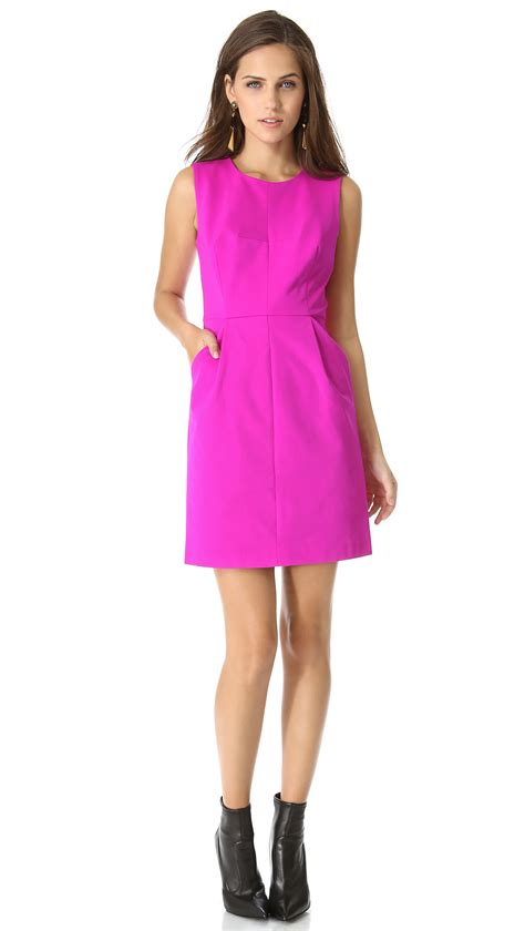 Dress Coco milly coco dress in pink shocking pink lyst