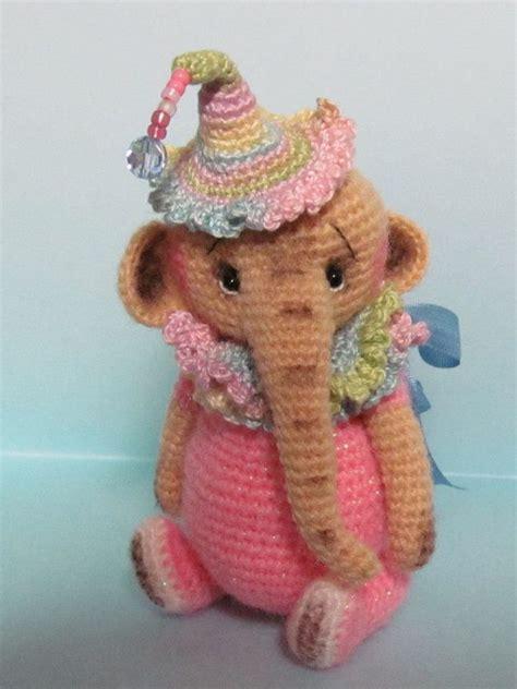 amigurumi artist patterns miniature thread artist crochet teddy bear elephant by