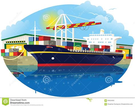 cargo boat clipart loading vessel clipart clipground