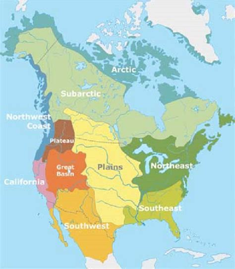american culture areas map nations