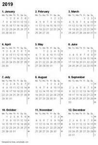 Calendar 2019 Printable Free Printable Calendars And Planners 2017 2018 2019 2020