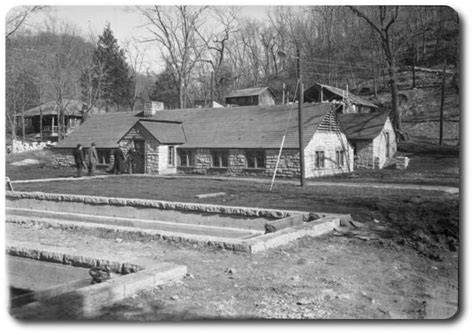 Cabins At Roaring River State Park by Roaring River