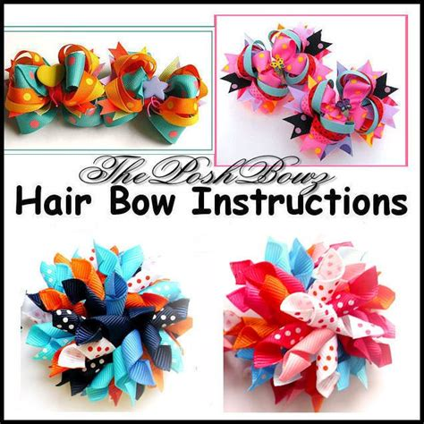 hair bow instructions project 1573 best images about hair bows and ribbon sculptures on