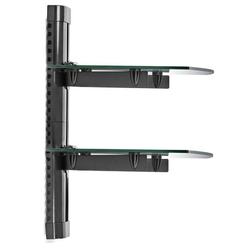 Wall Shelf For Tv Components by 2 Shelf Floating Wall Mount Dvd Tv Component Av Console Cable Glass Stand Ebay