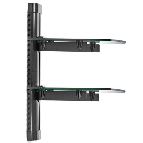 2 shelf floating wall mount dvd tv component av console