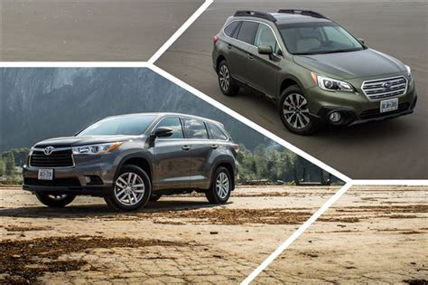 toyota subaru 2015 comparison test 2015 subaru outback ltd vs 2014 toyota