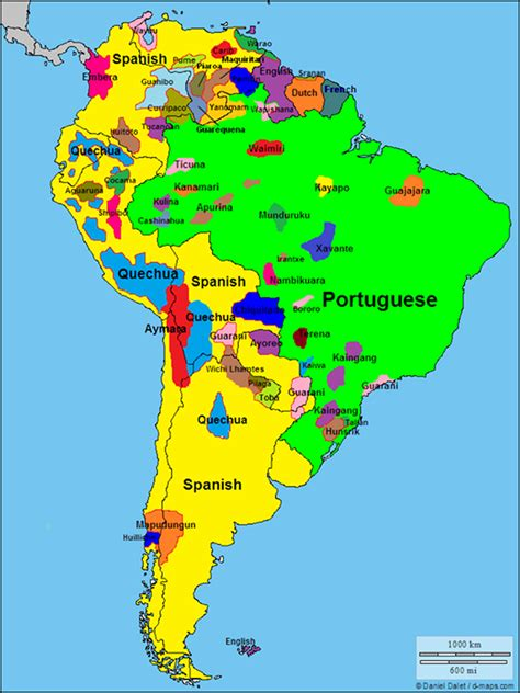 south america map by language map of languages in america megustanlosjalape 241 os