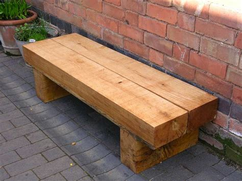 sleeper bench new oak railway sleepers from railwaysleepers com