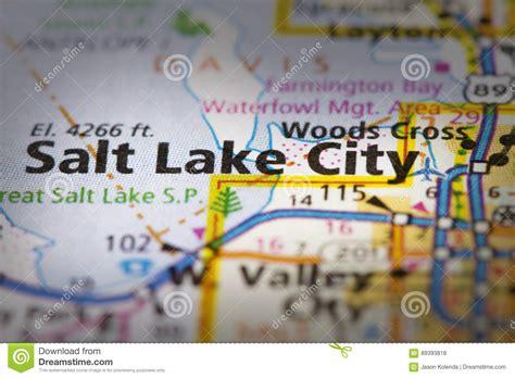 salt lake city utah map usa salt lake city utah on map stock photo image 89393818