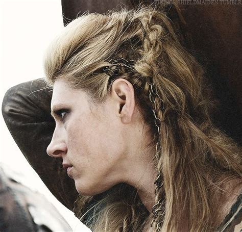 history channel vikings women hairstyles lagertha shieldmaiden close up of hair side and chain