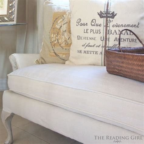 drop cloth upholstery remade sofa using painter s drop cloth for the home
