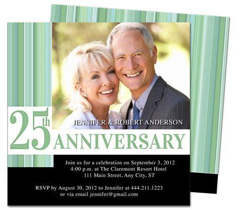 Wedding Anniverary Invitations Templates : Happiness 25th