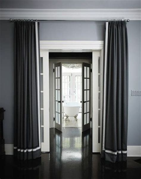 gray walls white curtains gray walls dark floor white trim for the home juxtapost