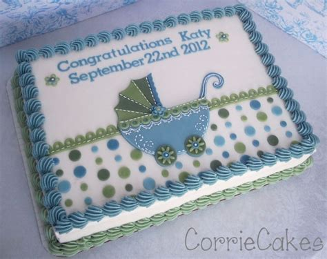 Baby Shower Sheet Cakes For Boy baby buggy cakecentral