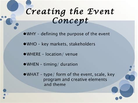 event concept template event management