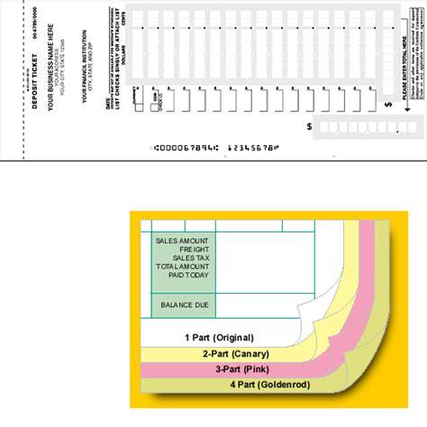 printable deposit tickets carbonless deposit ticket books quick scan custom