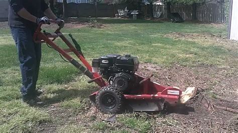 stump with a home depot rental grinder