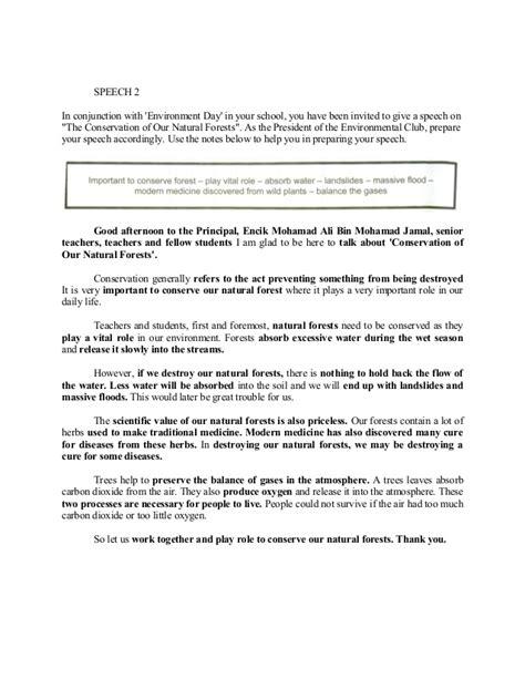 Exles Of Speech Essay by Pt3 Speech Essay Sle