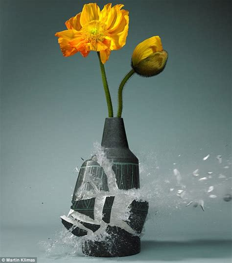 Glass And Ceramic Vases Martin Klimas Uses High Speed Photography To Captures The