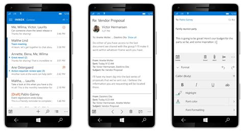 Calendar Mobile Outlook Mail And Calendar App Gets Updated For Windows 10