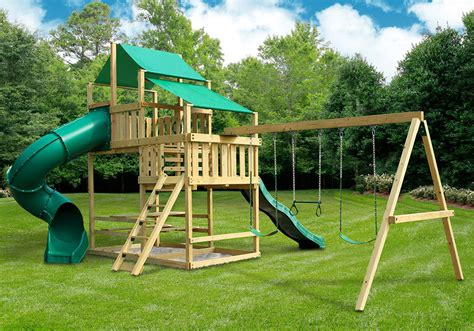 swing set frontier fort with swing set diy kit swingsetmall