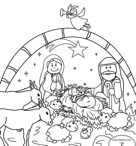nativity coloring pages for toddlers printable nativity scene coloring pages for kids