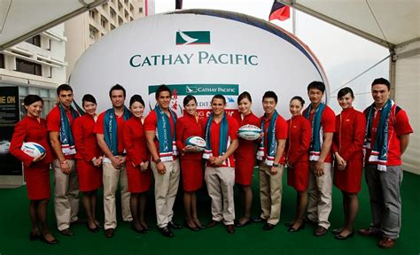 cathay pacific cabin crew are promoting the on 2011