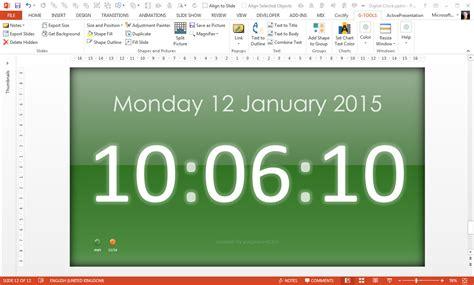 Free Powerpoint Digital Clock Alarm Countdown Youpresent Free Powerpoint Countdown Timer