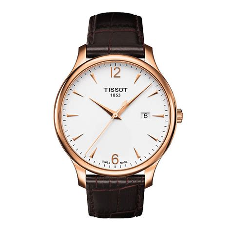 Tissot Gold Leather tissot s gold brown leather ernest