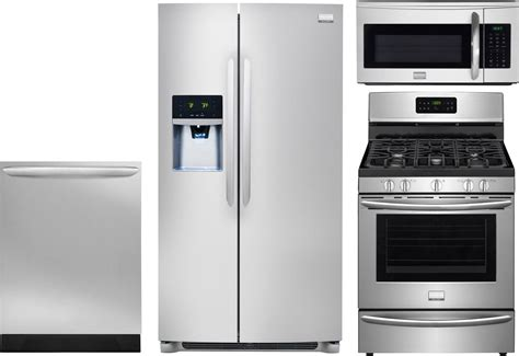 uncategorized frigidaire gallery kitchen appliance frigidaire 4 piece kitchen package with fggf3035rf gas