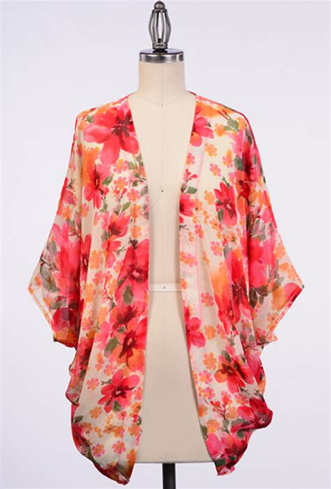 Flower Print Kimono Kimono Cardigan Wanita cardigan meadow blooms floral print kimono cardigan sincerely sweet boutique