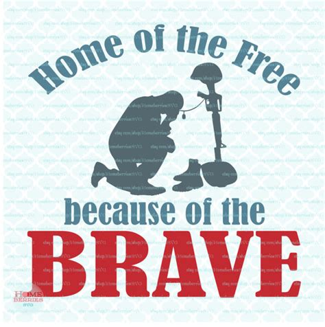 home of the free because of the brave svg svg soldier