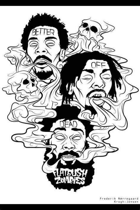 coloring book not as as acid rap best 25 flatbush zombies ideas on asap rapper