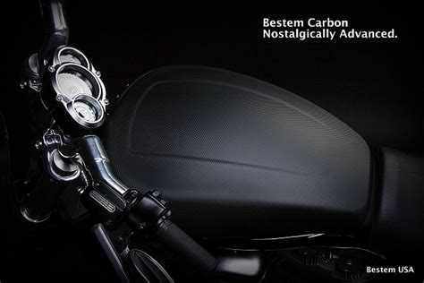 harley davidson vrscf  rod muscle carbon fiber tank cover matte finish