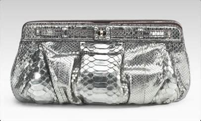 Zagliani Metallic Python Handbag Small Chagne by Zagliani Metallic Python Clutch Purseblog