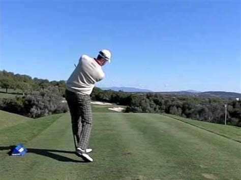 golf swing from behind henrik stenson super slow motion golf swing youtube