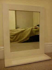 shabby chic mirror with shelf bathroom mirror with shelf white framed nautical shabby