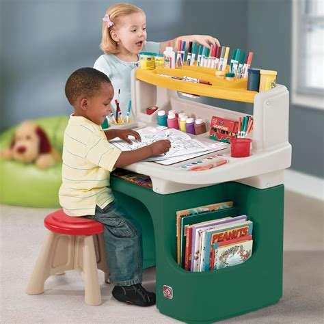 step 2 art table art master activity desk kids art desk step2