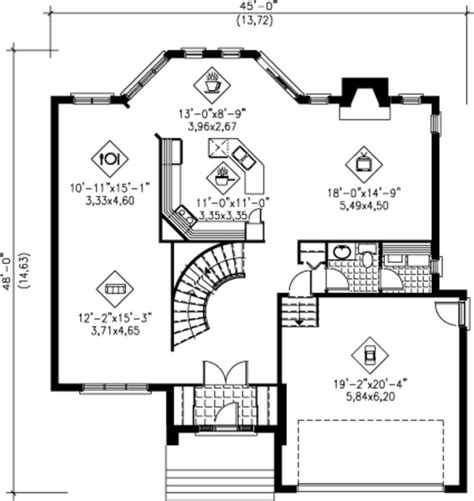 square kitchen floor plans 2575 sq ft house plan 25 4240 45 w x 48 d floor kitchen 11 x11 13 x 8 9