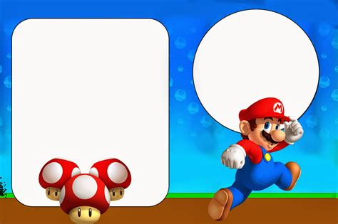 mario birthday card template mario bros free printables and invitations