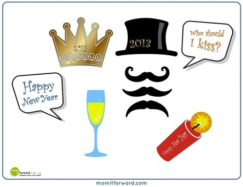 photo booth props printable pdf new year 17 best images about photo booth props on pinterest free