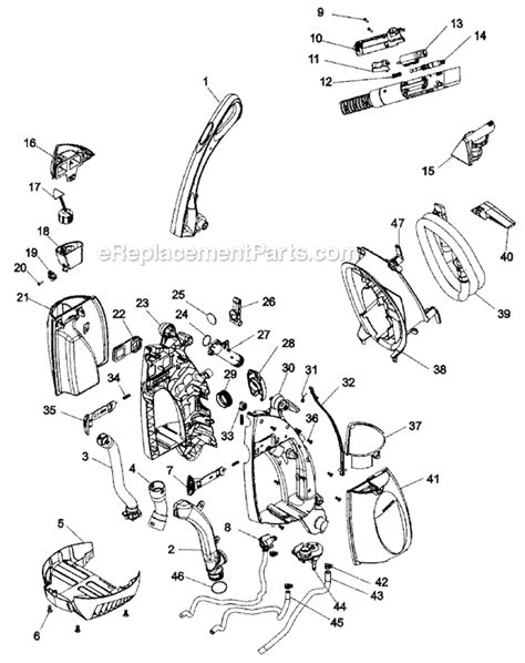 hoover steamvac parts diagram hoover f6215 900 parts list and diagram