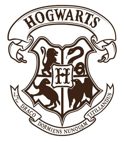 Hogwarts Logo Outline by Logo Clipart Hogwarts Pencil And In Color Logo Clipart Hogwarts